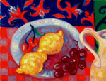Still Life with Lemons and Pitcher by David Arathoon