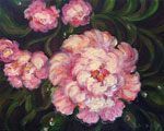 Night Peonies by David Arathoon